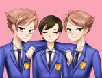 Ouran High School Host Club Haruhi and the Twins by so-squiggly