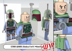 STAR WARS: Boba Fett Lego Minifigure (WIP) by JouzuMania