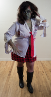 Zombie School Girl 9 by Angelic-Obscura