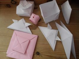 Figures of origami by Gallerica