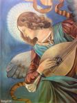 Musical Angel with Lute after Melozzo da Forli by Rossi-Rosedeni