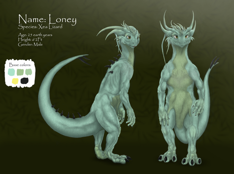 [Photoshop and Tablet] Loney, refference sheet by LFS92
