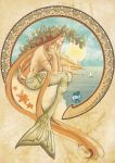 THE MERMAID (MUCHA STYLE) by YANN'X by YANN-X