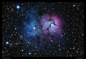 Trifid Nebula M20 Revisit by CapturingTheNight