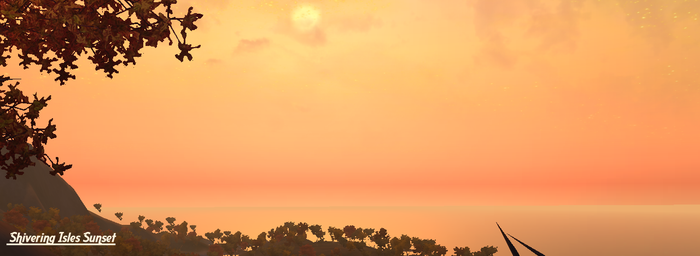 Sunset in the Shivering Isles by Avenger1130