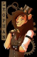 Commission - Leophan - Steampunk Badge by Viccinor