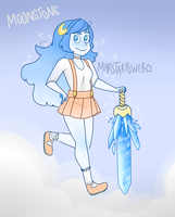 Moonstone Crystal Gem by Marstarpower
