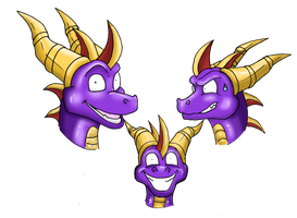 some quick spyro emotions by werespyro