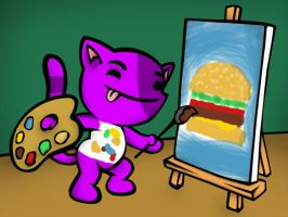 The Joy of Painting with Bob Cat by TheStaticStalker