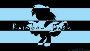 Rainbow Dash Stripes Wallpaper by LuGiAdriel14