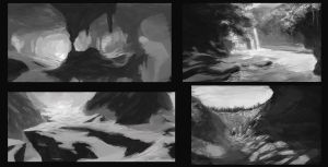 Environment Paint - value study by Takumer