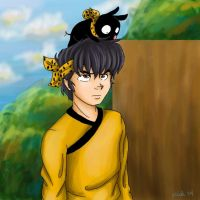 Ryoga and P-chan for Anie by irishgirl982