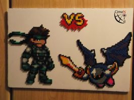 CSW Solid Snake versus Metaknight by Cimenord
