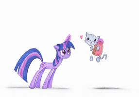 Twilight and the Nyan Cat by QuynzeL