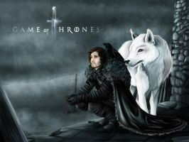 Lord Jon Snow by Catsouille