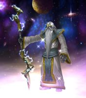 Aman'Thul, The Highfather (Old) by hipnosworld
