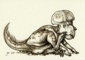 Protoceratops ACEO by Himmapaan