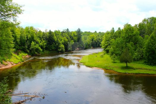 Manistee River by xd0rkvict0rx