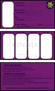 Mansion ID Template by Inirias