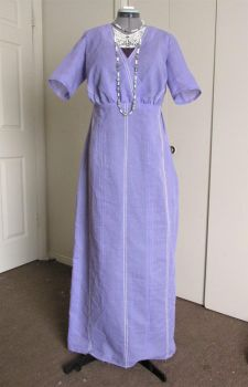 Titanic era 1912 Dress in Periwinkle Cotton by tinselizzi