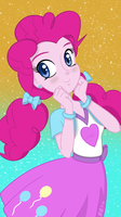 [MLP] - Pinkie Pie EQG Phone Wallpaper by Burning-Heart-Brony