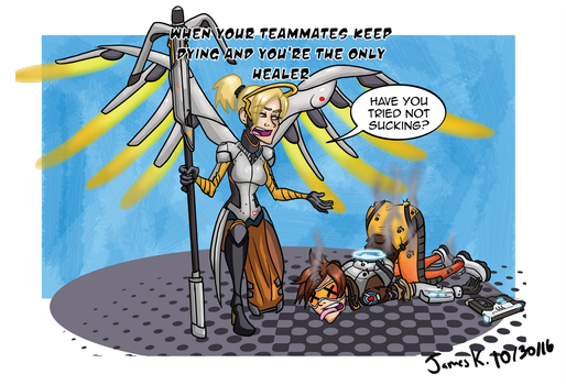 Overwatch: Healer Troubles-clean by killer-kay-james