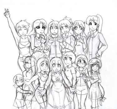 Mecchen House Cast by Ai Ver 2 by majorkerina