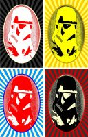 Stormtrooper four panel Coke-Cola pop art by TheGreatDevin