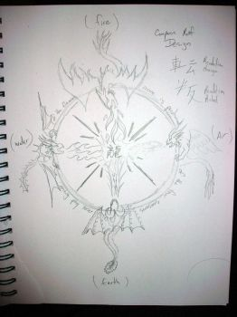 5Min Sketch of Compass Dragons by Zhon