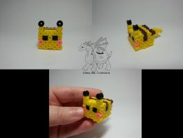 Pikachu cube by Kame-ami