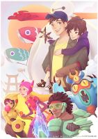 Postcard Print - Big Hero 6 by Zae369
