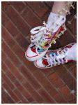 The Rainbow Shoes by Red--Roses