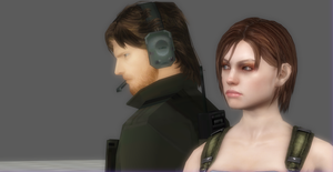 Solid Snake and Jill by Hatredboy