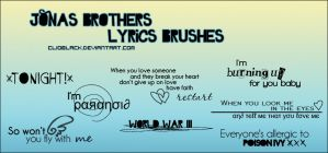 Jonas Brothers Lyrics Brushes by ClioBlack