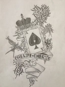 Ace Of Spades Tattoo Design by ProTxtics
