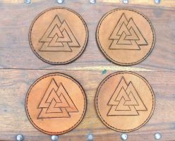 Valknut patches by Half-Goat