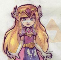 The Legend of Zelda - Toon Princess Zelda by papelmarfil