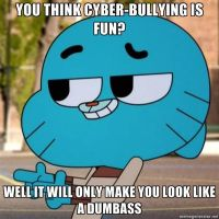 Gumball meme: Cyber Bullying by WaluigiTails3801