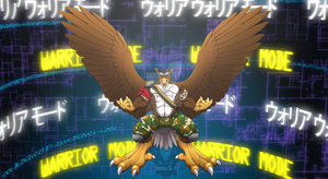 Beakwood Warrior Mode Digimon Background 2015 by CommanderBlackfire
