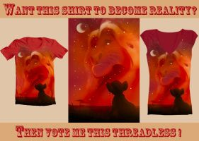 Threadless shirt: We'll always be together right? by Midsea
