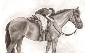 A boy and his horse by FlyingFancy1