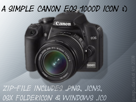 Canon EOS 1000D Icon by g1mp-d4v1d
