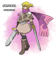 Arturia - Doublade Gijinka by Mad-Revolution