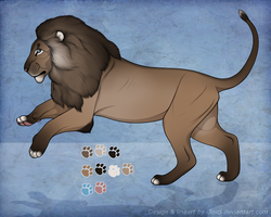 Lion Character ADOPTABLE closed by i3nici