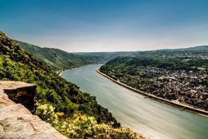 Long view of Father Rhine from Castle Liebenstein by tnhop
