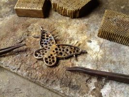 Gold butterfly 5 by Debals