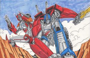 Transformers Prime Optimus and Causeway By: 1314 by Lady-ElitaOne