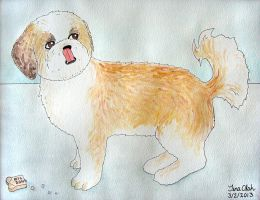 Watercolor Ozzy by Kittensoft