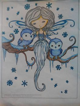 Snow Fairy - Adult Coloring by LFHaven