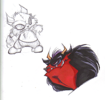 Howler and Gunt Skeches by WireBear